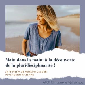 Main dans la main : à la découverte de la pluridisciplinarité «psychomotricien»