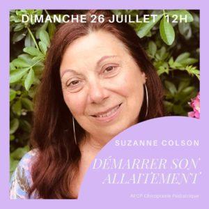 Entretien avec Suzanne Colson, Sage femme