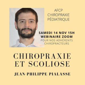 Webinar avec Jean-Philippe Pialasse, DC, MD, PhD sur la scoliose